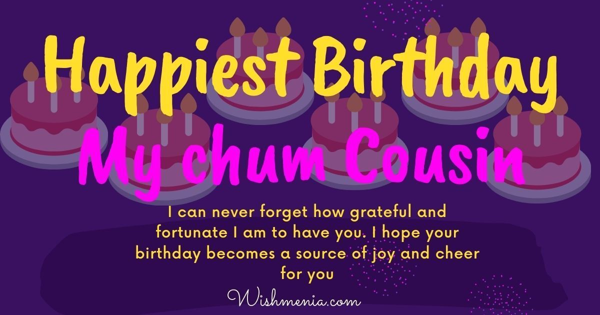 Happy Birthday wishes for cousin brother