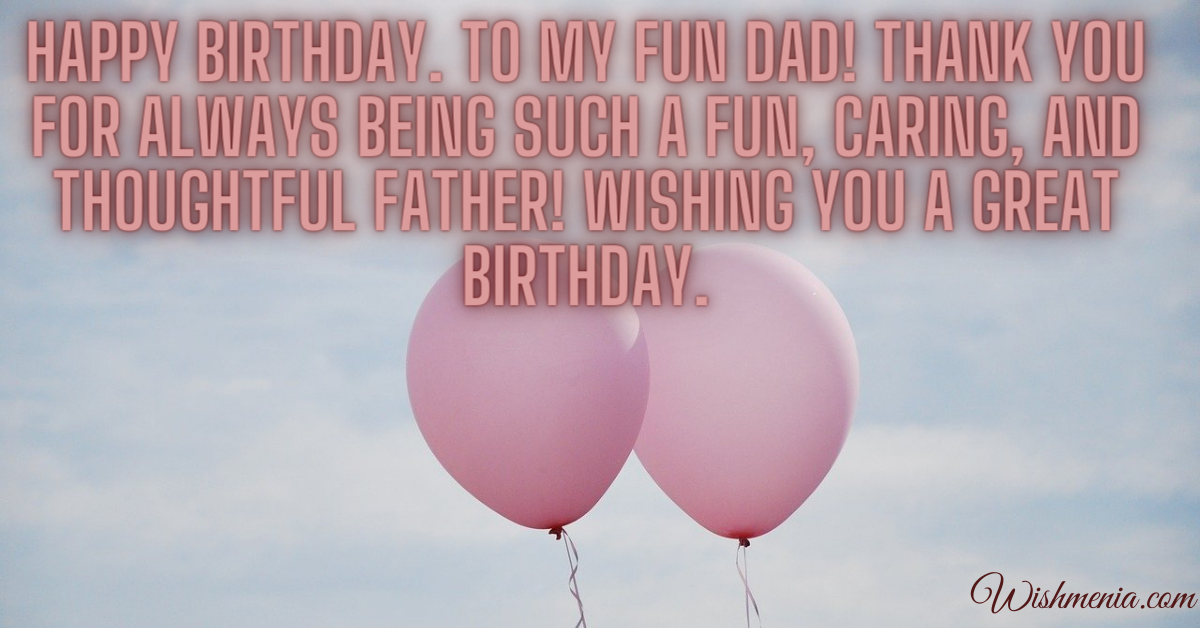 great wishes for dad