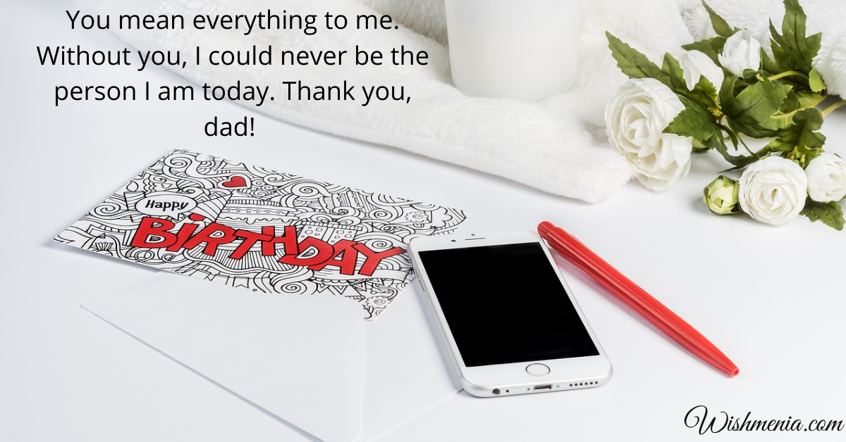 birthday thanks wishes for dad