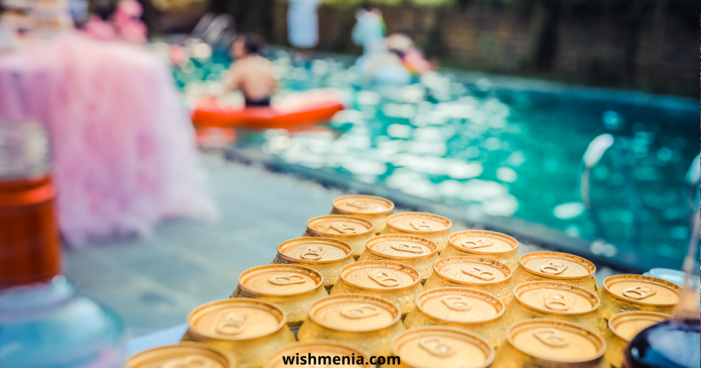Pool party at birthday